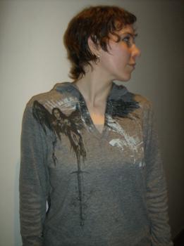 Corin Blackfeather hoodie, front view