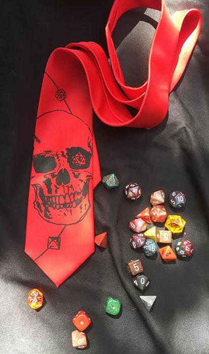 """""""die roller"""" tie"""