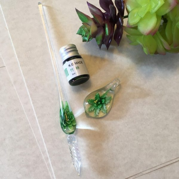 Glass Stylus Pen Green