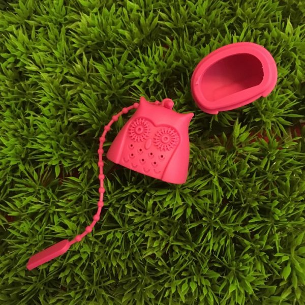 Pink Owl Tea Infuser Open