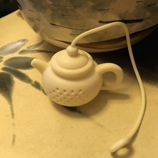 Tea Pot Tea Infuser White