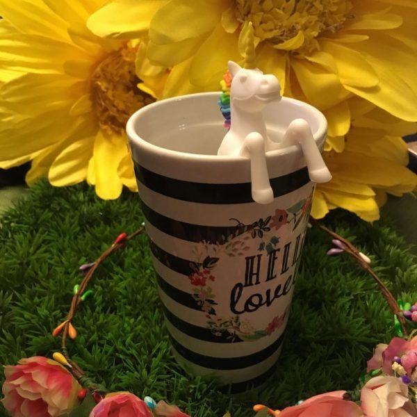 Unicorn Tea Infuser in cup