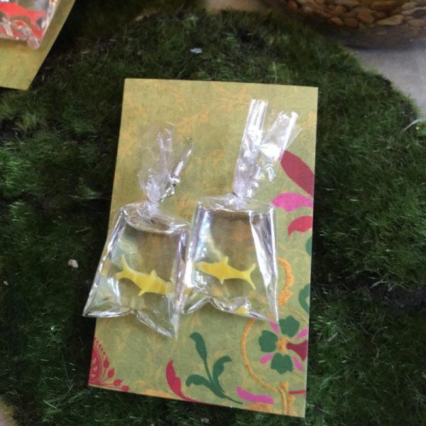 Yellow Goldfish earrings
