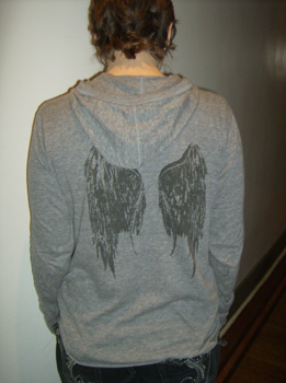 Corin Blackfeather shirt, back view