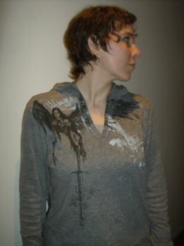 Corin Blackfeather hoodie, front view