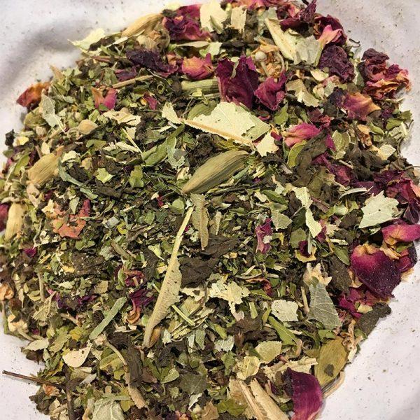Chill herbalist tea leaves